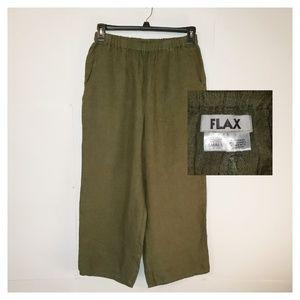 FLAX | Linen Crop Pant